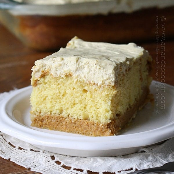 Pumpkin Magic Cake: Doctored Cake Mix - Amanda's Cookin'