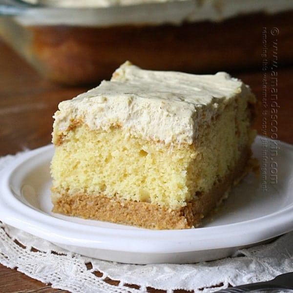 Doctored Cake Mix Peach Cake
