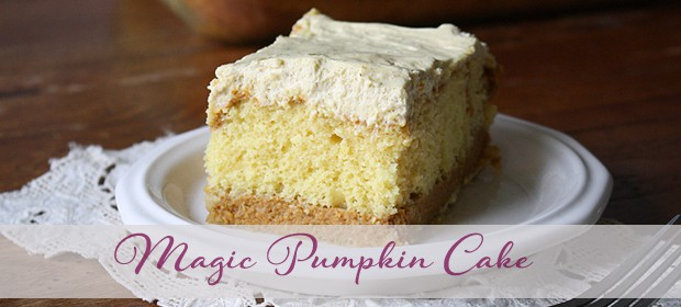 Pumpkin Magic Cake: Doctored Cake Mix