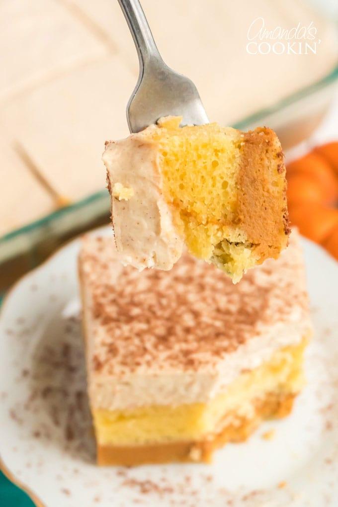 fork of cake