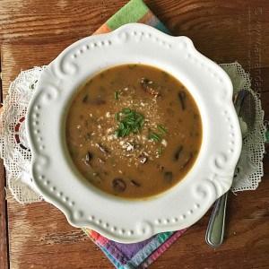 Sausage Mushroom & Wild Rice Soup, Amanda's Cookin'