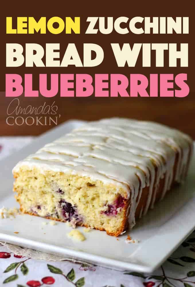 lemon zucchini bread with blueberries