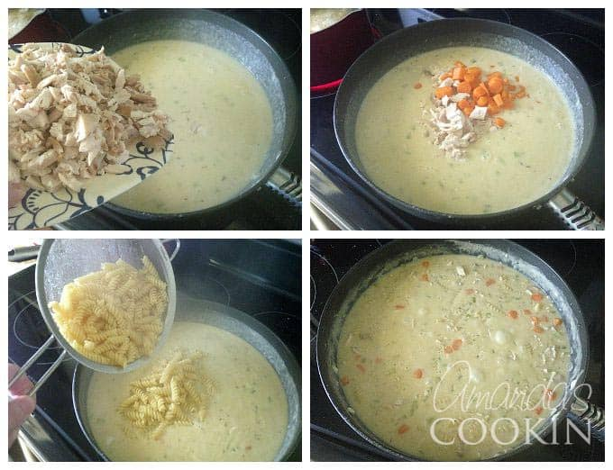 Delicious Chicken Rotini Bubble Up recipe with step by step photos from Amanda's Cookin'