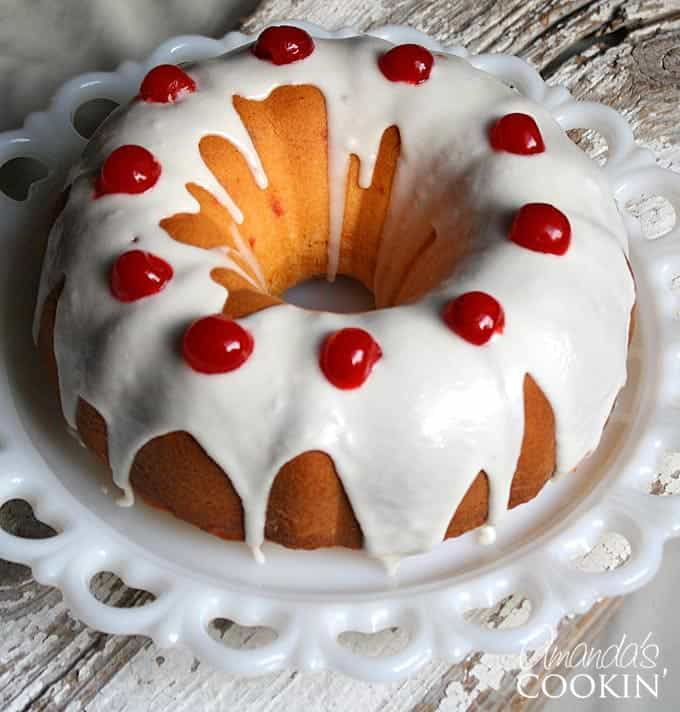 Maraschino Cherry Bundt Cake: A Doctored Cake Mix