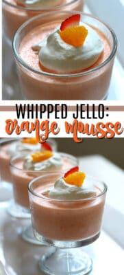 whipped jello mandarain orange mousse pin image