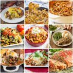 Many different types of food, with Beef