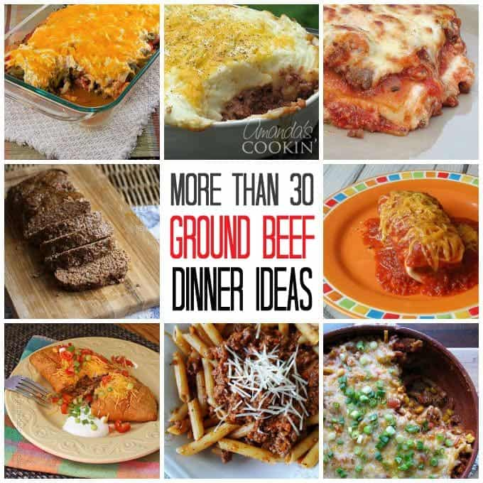 Ground beef dinner ideas 30 recipes for supper for What to make with hamburger meat for dinner
