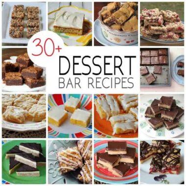 Photos of different dessert bar recipes.