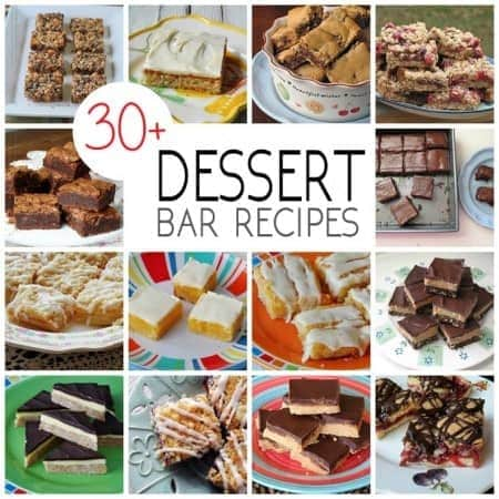Bar Recipes: 30+ bars, brownies, squares & blondies - so many delicious easy to make bar recipes that are perfect for holidays, lunch, snacks and just because!