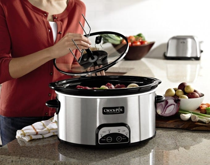 CrockPot with iStir capability. I LOVe this slow cooker, you don't have to use the stirring function, it's optional. But it's great for soups, stews and chili. It stirs on its own!