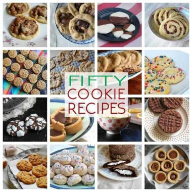 Photos of different cookie recipes.