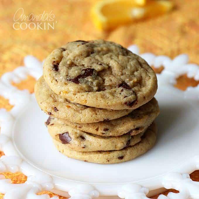 Orange Chocolate Chip Cookies: orange chocolate cookies