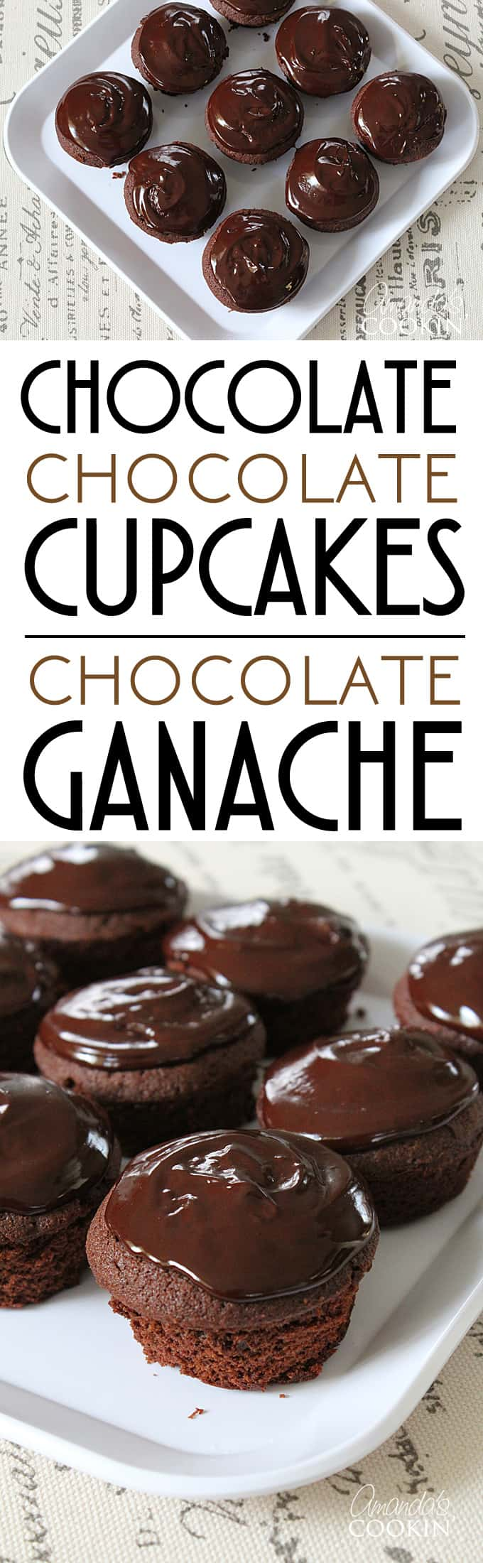 Chocolate Cupcakes with chocolate ganache from scratch