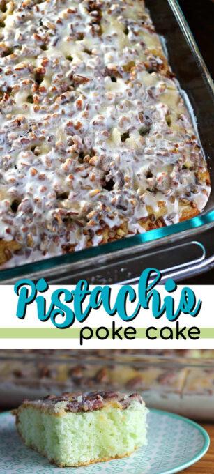 pistachio poke cake pin image