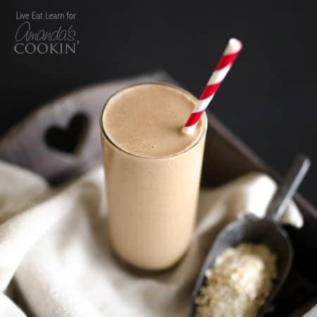 This Loaded Coffee Smoothie is packed with whole grains, fruit, protein, and (the best part) coffee! It has everything needed to get you out the door and fully functioning in just 5 minutes!