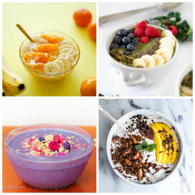 Make one of these amazing smoothie bowls for breakfast today!