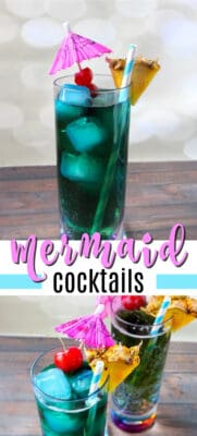 mermaid cocktails pin image