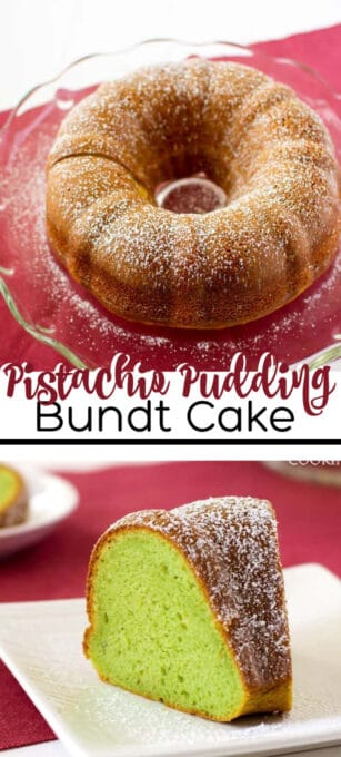 pistachio pudding bundt cake pin image