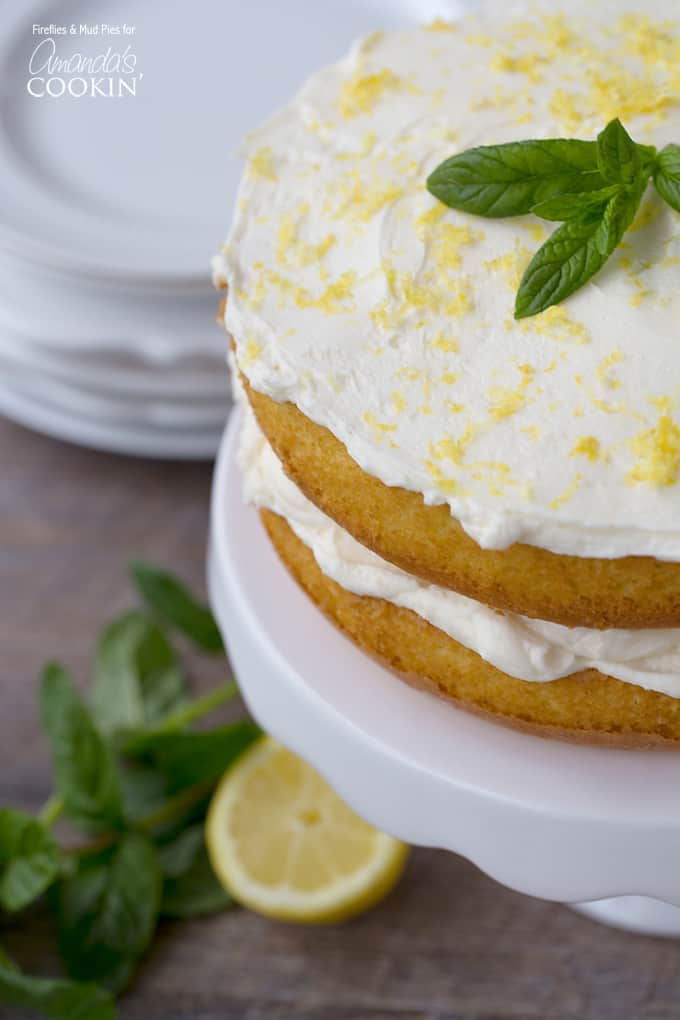 This beautiful lemon curd poke cake is easy to make. It starts with a cake mix and is doctored into a beautiful lemon dessert worthy of party status.