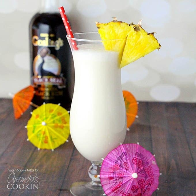 Learn how to make a Pina Colada at how with this easy Pina Colada recipe.
