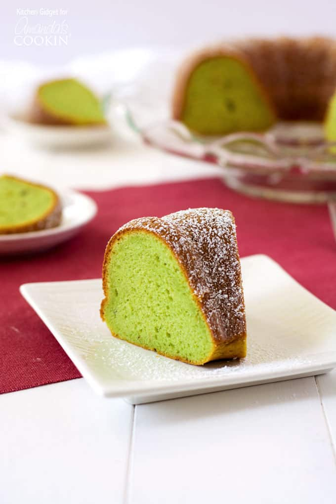 This pistachio pudding bundt cake is truly tender and delicious! Adding pistachio pudding to cake mix transforms something average into something amazing.