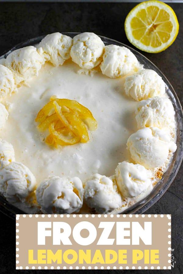 A photo of a frozen lemonade pie.
