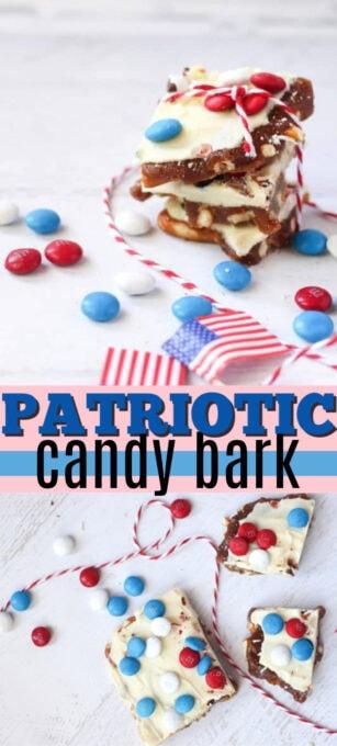 patriotic candy bark pin image