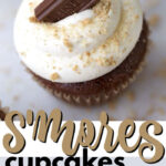 s'mores cupcakes pin image