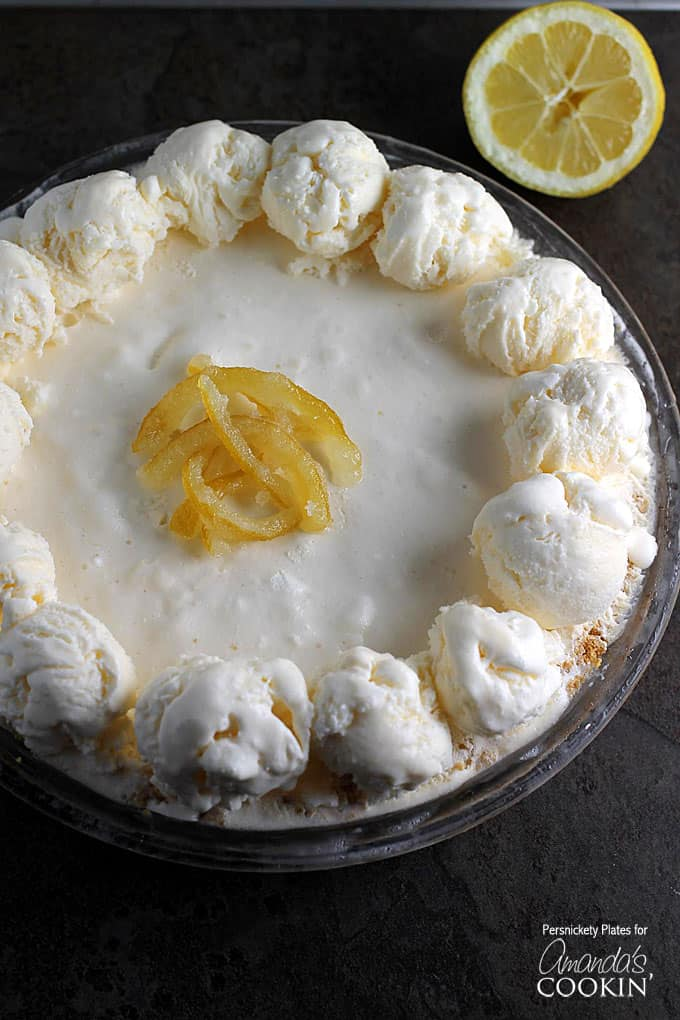 This frozen lemonade pie is the perfect no-bake dessert for summer. If you love lemonade desserts, you must try this refreshing lemonade pie!