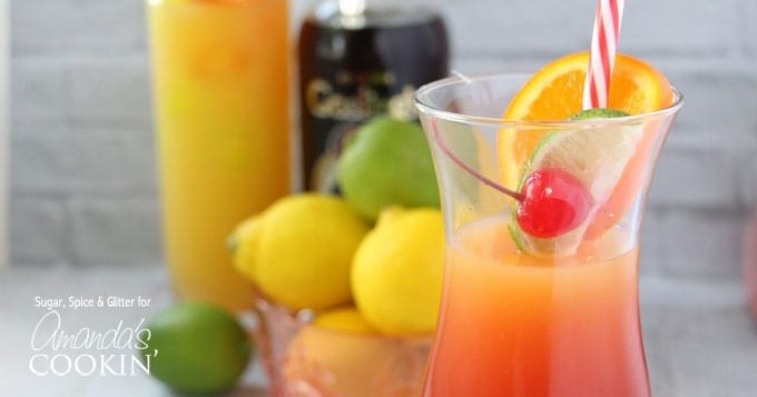 Mixed drinks with rum - rum punch