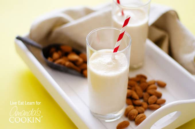 Nutty almonds and maple syrup meet creamy Greek yogurt and frozen banana to create a heavenly almond maple smoothie you won't be able to put down.