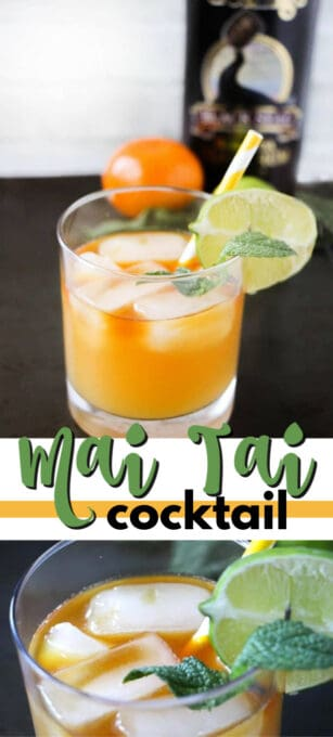 mai tai cocktail pin image