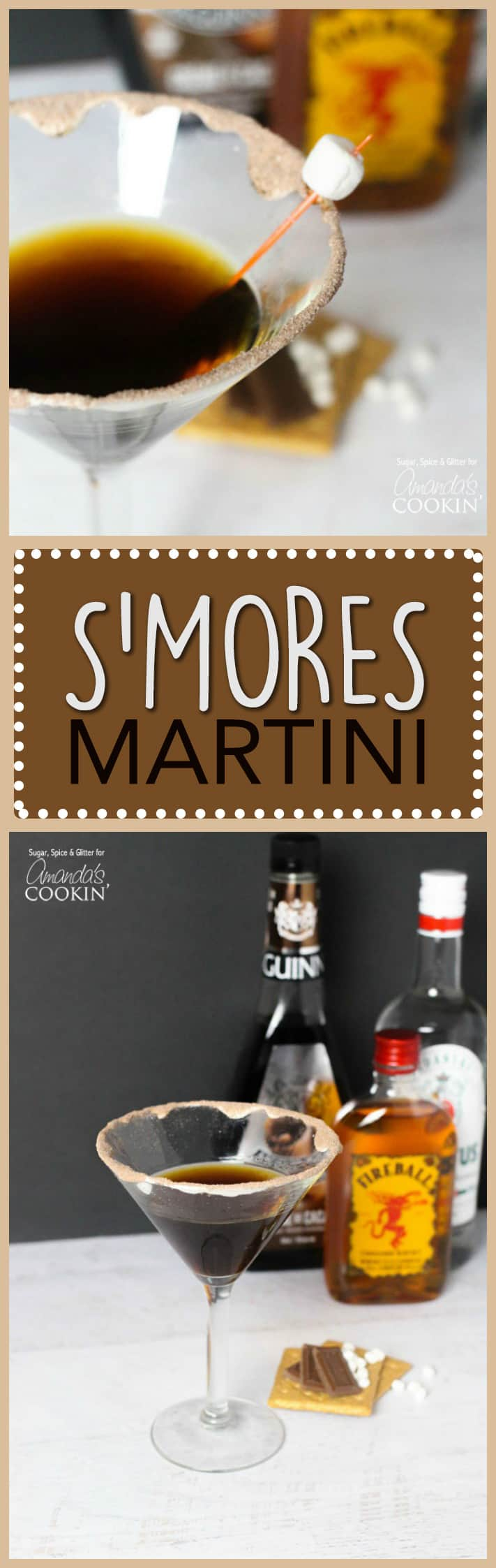 The S'mores Martini is a fun summer cocktail that puts all the flavors of your favorite campfire treat into a glass for grown ups. A great summer treat!