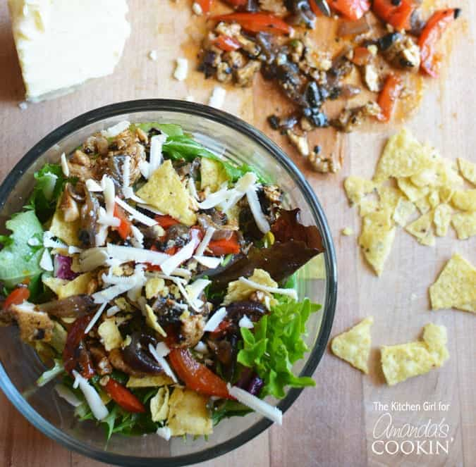 Love your chicken fajitas? Then this chicken fajita salad is a delicious lower carb option you will adore. Spice up your day with a Mexican inspired salad.