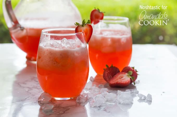 strawberry lemonade in glasses