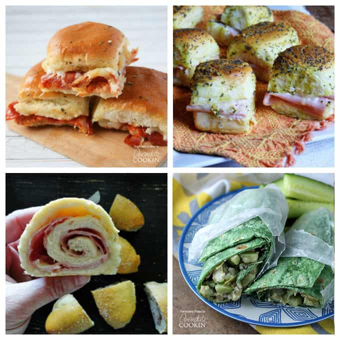 So many delicious sandwiches, for appetizers, lunch and for dinner. Get the recipes here.