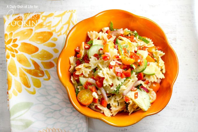 This simple and delicious summer vegetable pasta salad is full of flavor, packed with vibrant farmer's market veggies and just the right amount of crunch.