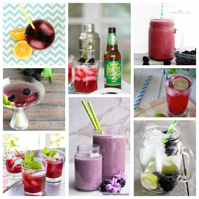 Photos of blackberry recipes.