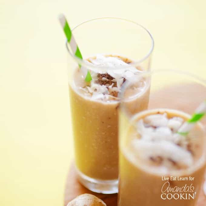 This Coconut Smoothie is a creamy, healthy, and downright decadent breakfast. With just six simple ingredients, it's the perfect smoothie for breakfast.