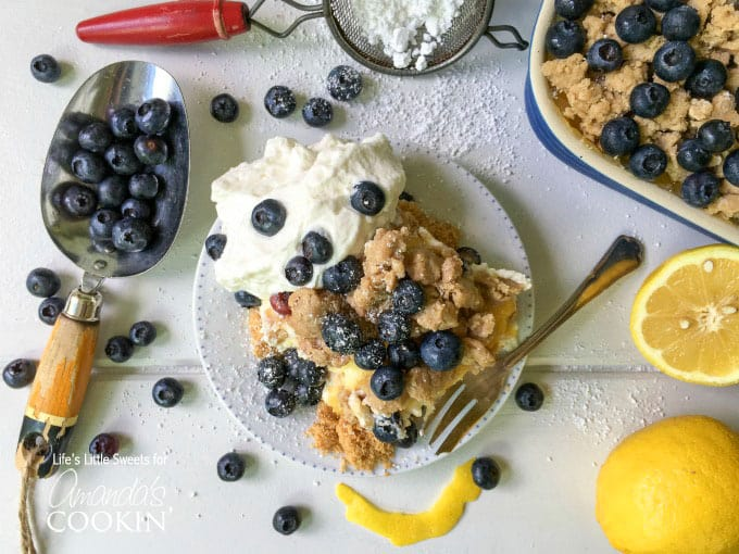 This no-bake blueberry cheesecake is assembled in one pan, making it portable and perfect for potlucks and holidays. Loaded with lemon curd and mascarpone!