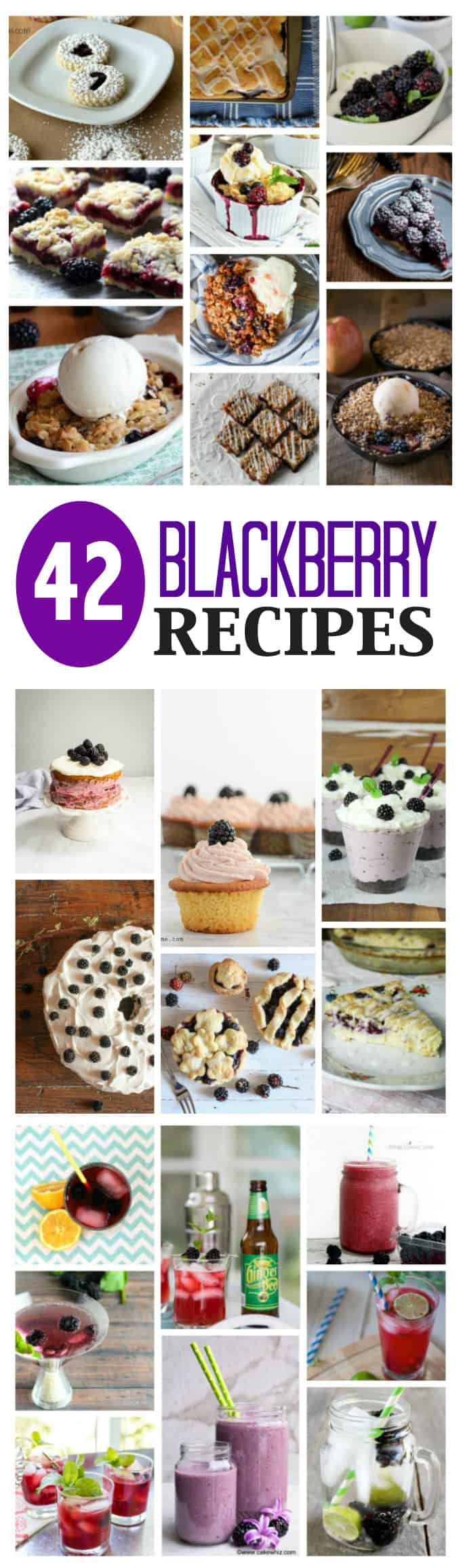 If you love blackberries like I do, you'll want to definitely save all of these delicious blackberry recipes to try yourself! From breakfast to dessert.