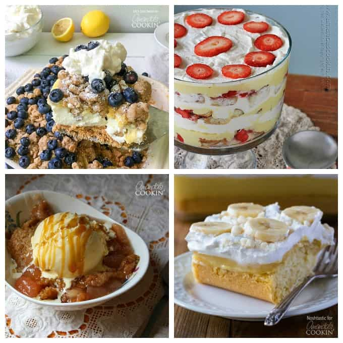 So many delicious fruit centered desserts for you to choose from!