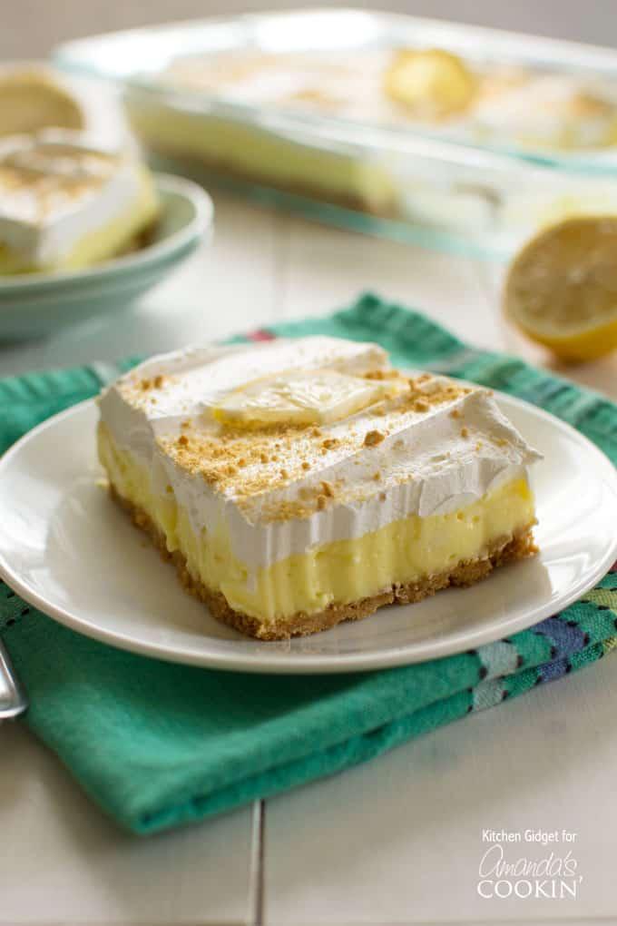 Lemon Pudding Cake With Whipped Cream