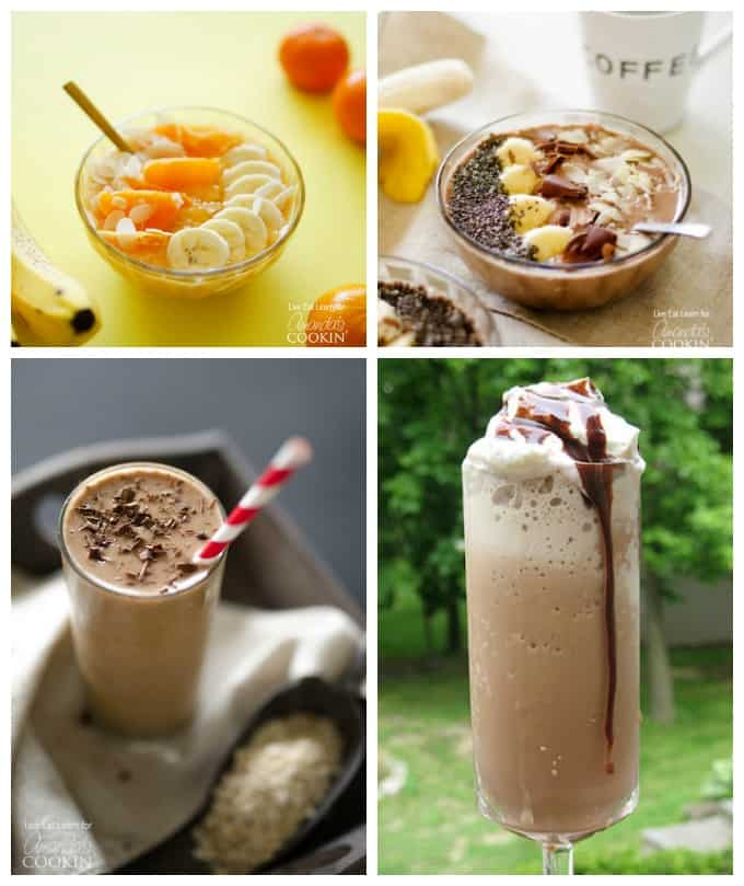 All sorts of amazing smoothies recipes and smoothie bowl recipes for breakfast!