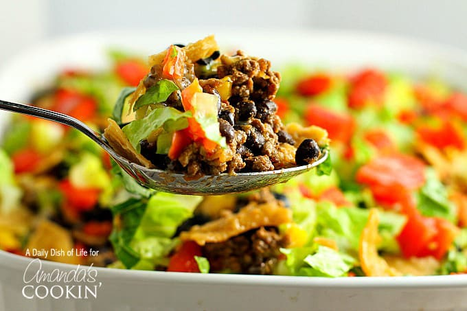 spoonful of taco casserole