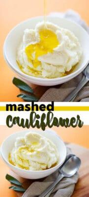 mashed cauliflower pin image
