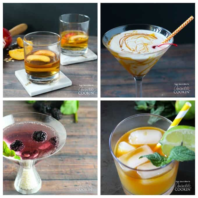 Delicious fall cocktails. If pie is your thing, this peach pie cocktail is right up your alley and also perfect for fall. Being big ice cream fans around here, the butterscotch milkshake cocktail is one of our favorites! Blackberries are in season in the summer, but they can be had all year. So be sure to try our blackberry gin martini at your next cocktail party. While the mai tai cocktail is probably more of a poolside drink, imagine yourself on a tropical island this fall with one of these in your hand.