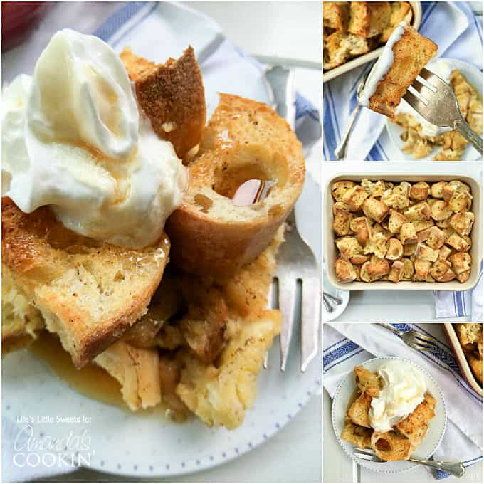 French Toast Casserole uses French baguette loaves & has all the delicious flavor and spices of classic French toast just in casserole form to feed a crowd!