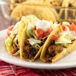 Beef and Bean Oven Tacos