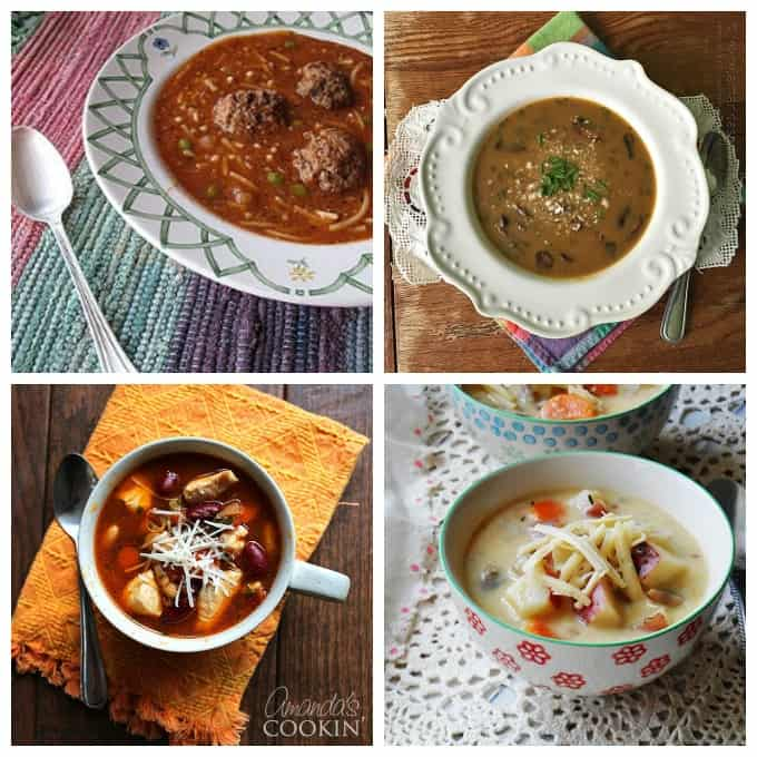 Several delicious soup recipes, perfect for lunch or dinner and ideal for the colder months. They freeze and refrigerate well and make great leftovers!